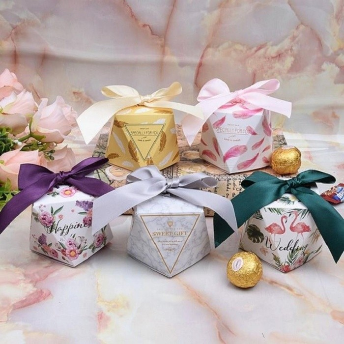 Multicolor Wedding Favor Box And Bags Sweet Gift Candy Boxes For