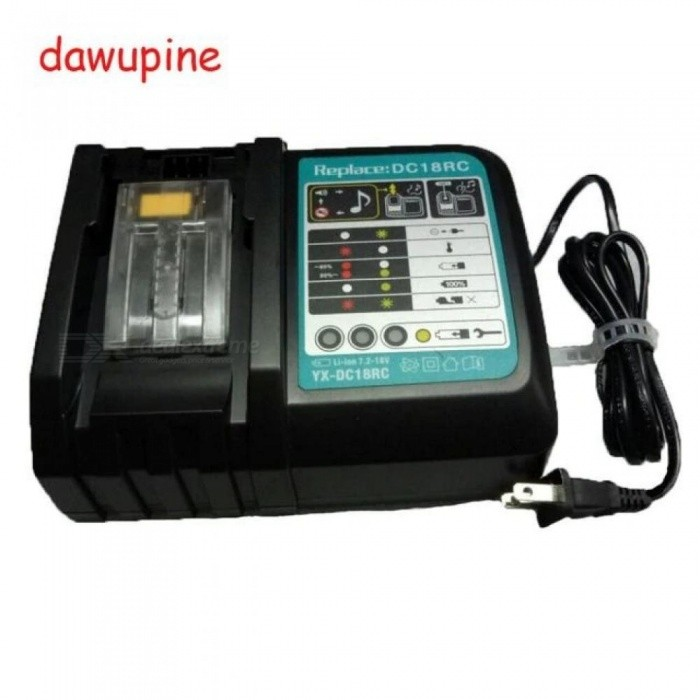 DC18RCT Li-ion Battery Charger 3A 6A Charging Current For Makita 14.4V 18V BL1830 Bl1430 DC18RC DC18RA Power tool  US/3A Charger