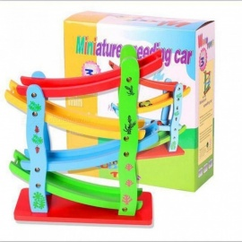 Click-Clack-Racetrack-Wooden-Childrens-Car-Slide-Racetrack-Run-Toy-Spare-Car-Wooden-Material-With-Colorful-Corolful