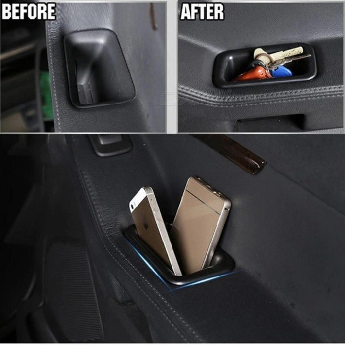 2PCS Front Door Handle Storage Box Bin For Ford Explorer 2011 - 2015 Container Tray Cup Holder Car Organizer 2012 2013 2014 2pcs