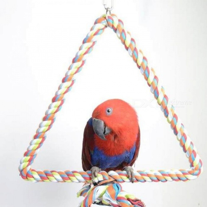 Large-Parrot-Toy-Bird-Bite-Toy-Stop-Bar-Cotton-Triangle-Perch-Standing-Rope-Climbing-Toy-For-Big-Parrot-African-Grey-Random-Color