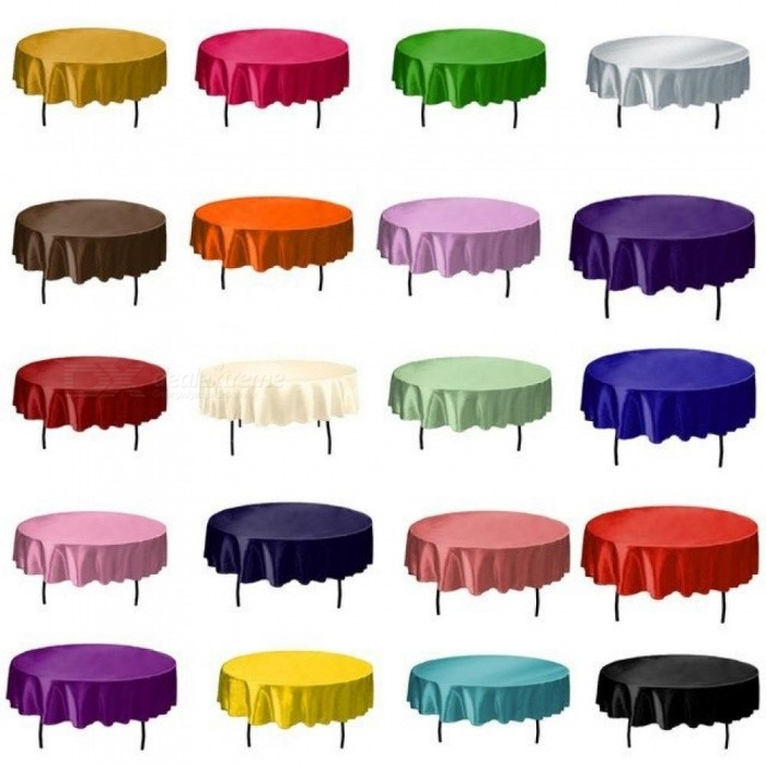 Buy Round handmade Satin Table Cloth Covers Tablecloth For Home Wedding Tables Restaurant Party Christmas Decoration Green 145CM 145cm/Black with Litecoins with Free Shipping on Gipsybee.com