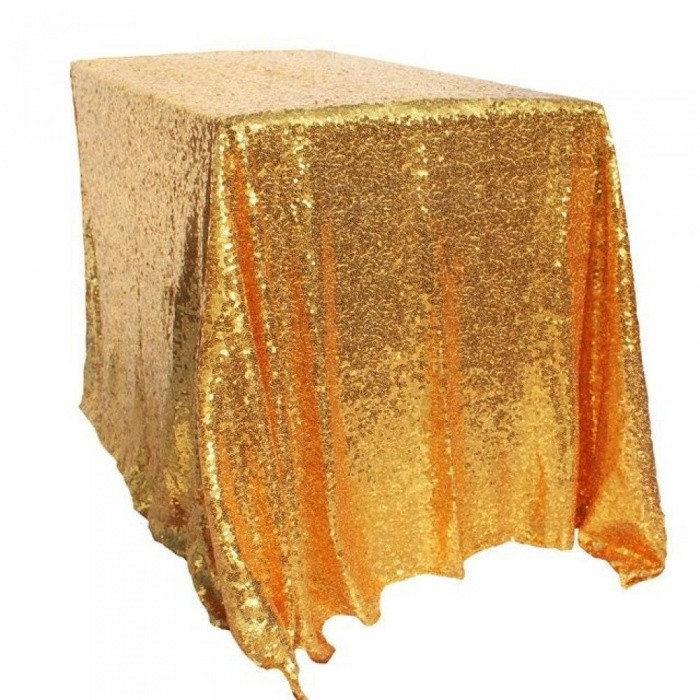 Buy 100x150cm Gold Sequin Tablecloth Rectangle Style For Wedding/Party/Banquet Wedding Table Cloth Decoration Gold with Litecoins with Free Shipping on Gipsybee.com
