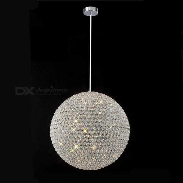 Modern Round Ball Iron Chandelier Diameter 15CM E27 Led Lamps Simple Crystal Chandeliers Led Lustre Chandelier Lighting A