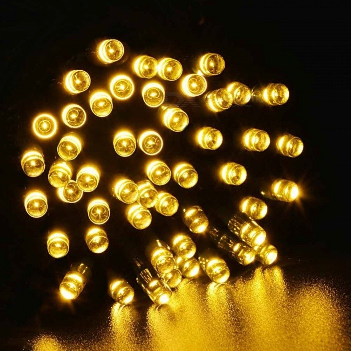 17M 100 LED LED Strip Light Outdoor Solar Powered String Light Christmas Party Lamp IP44 Waterproof Tree Decoration Christmas Blue