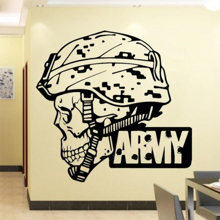 Cool Army Wall Sticker PVC Art Stickers Modern Fashion Home Decoration Accessories