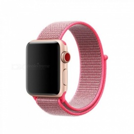 38mm 42mm Band for Apple Watch Series 1 2 3 Woven Nylon Band Strap for iWatch Colorful Pattern Classic Buckle 38mm/hot pink
