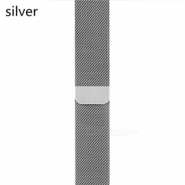 Loop Band for Apple Watch 42mm 38mm Stainless Steel Metal Strap Bracelet Watchband for iWatch Series 3/2/1 Accessories For apple watch  42m/Silver