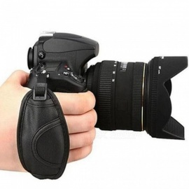 Camera Hand Strap Grip for Canon 5D Mark II 650D 550D 70D 60D 6D 7D Nikon D90 D600 D7100 D5200 D3200 D3100 D5100 D7000 for Sony Black