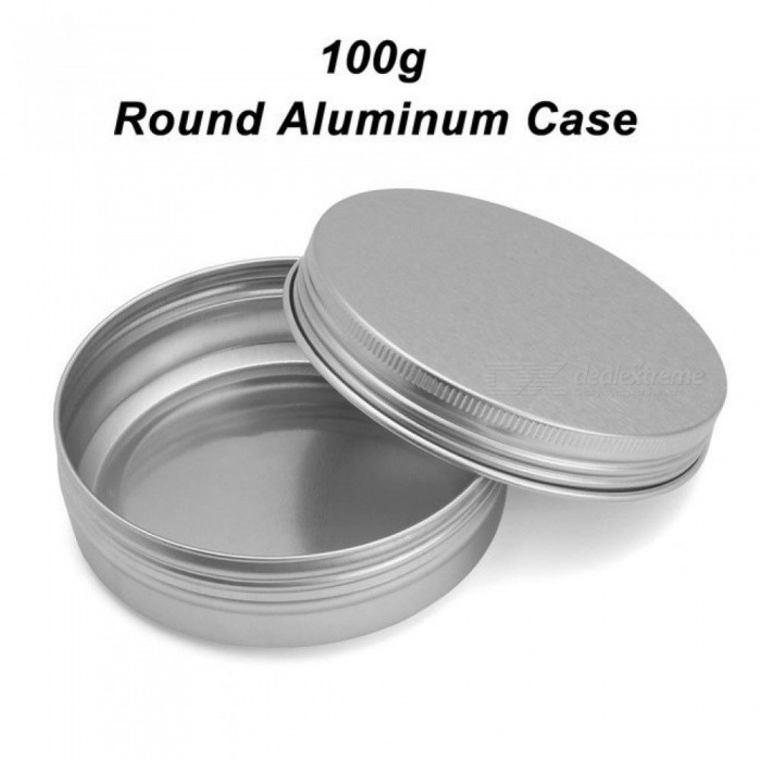 Empty-24PCS-100g-83*29m-Silver-Round-Aluminum-Tin-Cans-Cosmetic-Cream-Jar-Screw-Thread-Lid-Pot-Makeup-Hair-Wax-Case-Container-24pcs
