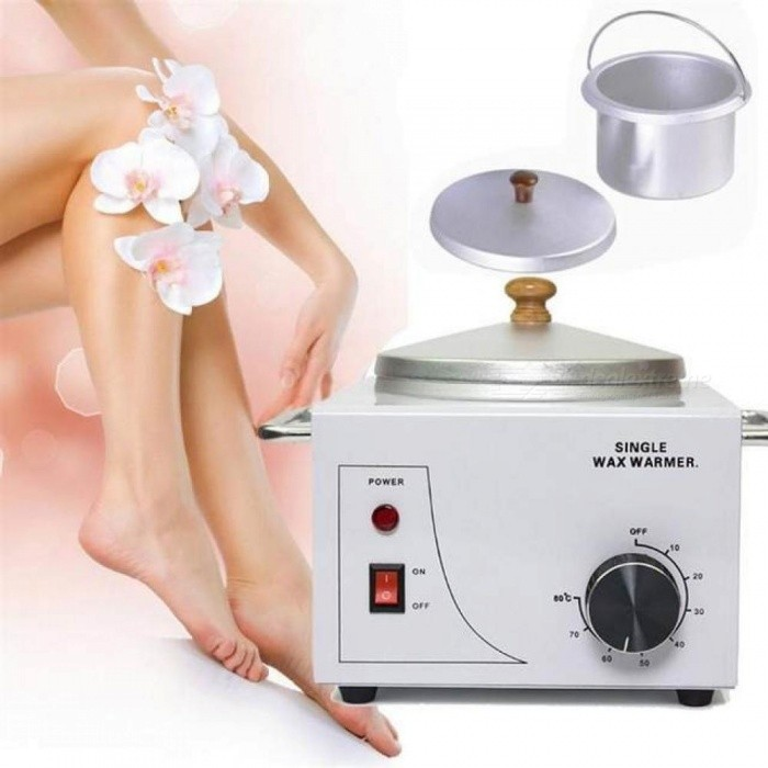 Single-Pot-Wax-Heater-Warmer-Machine-Professional-Depilatory-Temperature-Removal-Salon-Hot-Paraffin-Adjustable-Melting-Skin-Care-Silver