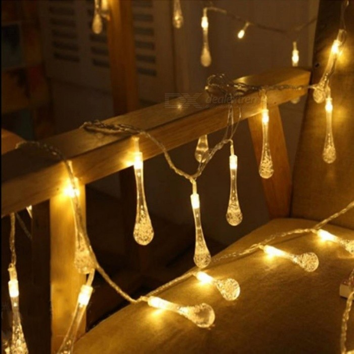 5m 20 Led Raindrop Christmas Lights Multicolor Outdoor String For Outside Garden Patio Party Eu Plug Worldwide