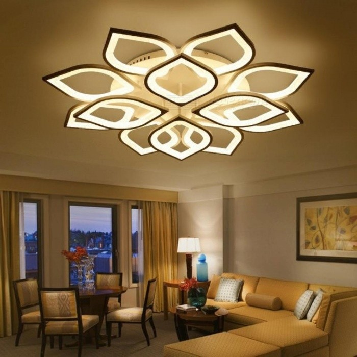 New Acrylic Modern Led Ceiling Chandelier Lights for Living Room Bedroom Home Dec LED Modern Fixture Ceiling Lights Brightness Dimmable/4 heads