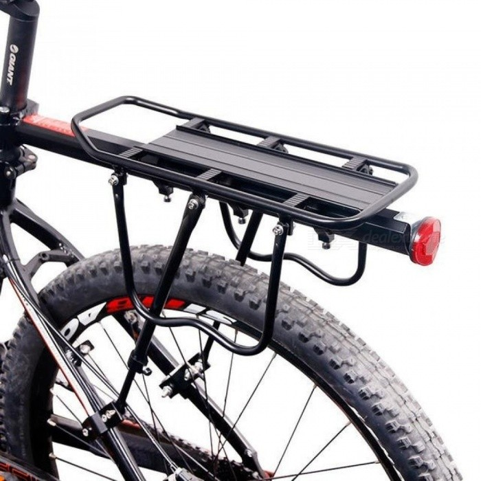 Bicycle Luggage Carrier Cargo Rear Rack Shelf Cycling Seatpost Bag Holder Stand for 20-29 inch bikes with Install Tools Quick Mount