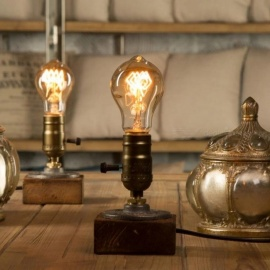 Loft-Vintage-E27-Holder-Edison-Bulb-Table-Lamp-Wood-Base-Light-Dimmer-Switch-Control-Desk-Lamps-Wood-and-Iron