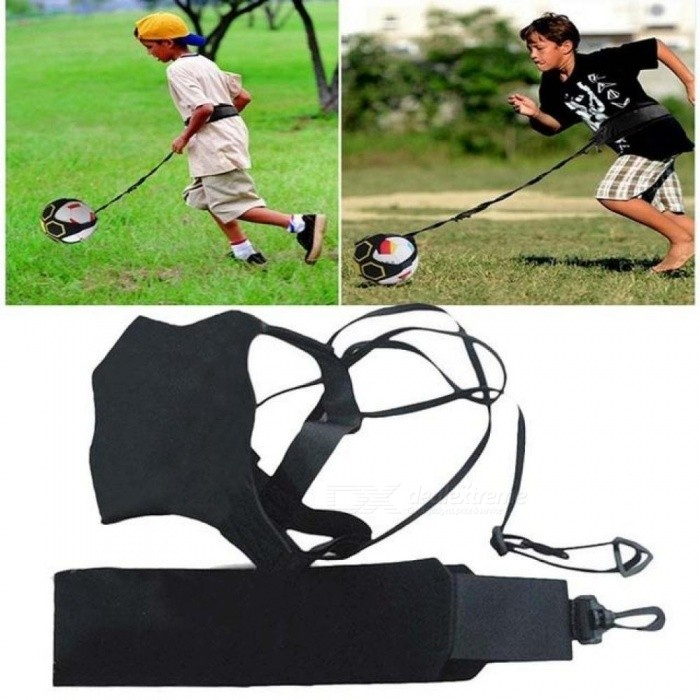 Soccer Ball Juggle Bags Kids Auxiliary Circling Belt Kids Football Kick Training Equipment Solo Soccer Trainer Pitching Trainer A