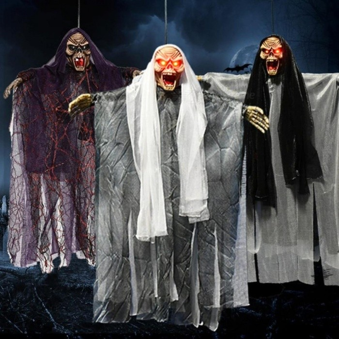 Scary-Voice-Control-Make-a-Horrible-Cry-Electric-Hanging-Skeleton-Haunted-Witch-Ghost-Halloween-Party-Prop-Decoration