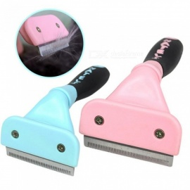 Professional-Cat-Comb-Hair-Deshedding-Furmins-Grooming-Pet-Comb-For-Cat-Grooming-Brush-Tool-Hair-Removal-Cleaning-6-X-15cmBlue-Comb