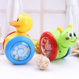Cartoon Snail Duck Tumbler Doll Roly-poly Baby Toys Cute Rattles Ring Bell Newborns 3 Years Old Early Educational Christmas Toy Duck