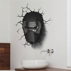 Star War Darth Vader Portrait Wall Stickers Kids Room Decor 1480. 3D Home Decals Movie Mural Art Cartoon Print Posters Multi