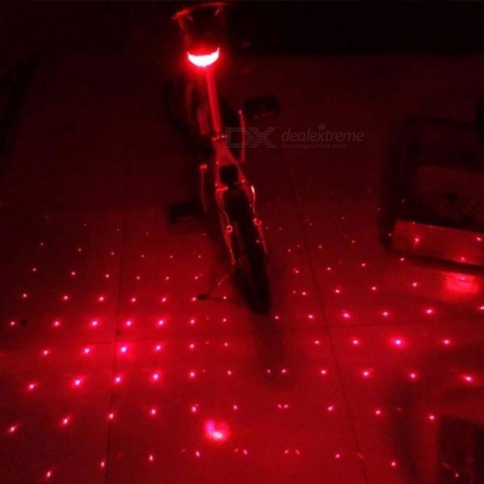 BicycleCycling LED Rear Beam Red Light  Bike Flashing Safety Caution Laser Tail