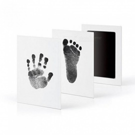 Newborn Baby Handprint Footprint Oil Pad Painting Ink Pad Photo Hand Foot Print Pad Wonderful Keepsake Smart Inkless Touch Black