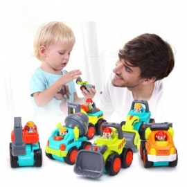 6 Pcs/Lot Baby Toys Mini Construction Vehicle Cars- Forklift Bulldozer Road Roller Excavator Dump Truck Tractor Toys for Boy 6Pcs/Lot