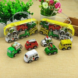 6 Pcs/Lot Pull Back Car Toys Car Children Racing Car Baby Mini Cars Cartoon Pull Back Bus Truck Kids Toys for Children Boy Gifts 6pcs/lot