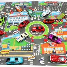 83*58cm Kids Car Toys City Parking Lot Roadmap Map DIY Car Model Toy Climbing Mats English Version Cars for Children Baby Kids Car Toys City