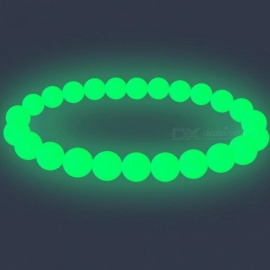 Luminous Pearl Glow Light Bracelet Natural Stone Beads Bracelet Antistress Magic Toy For Men Women Cuff Wristband Party 16cm/Green Light