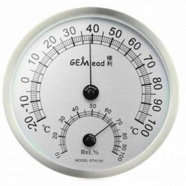 Hochtemperaturmessung edelstahl indoor outdoor thermometer hygrometer sauna bad labor wetterstation A