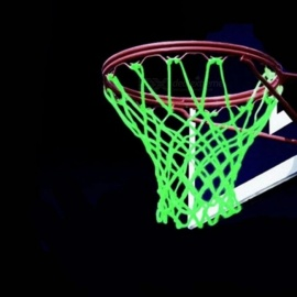 Glowing Light Shooting Training Green Luminous Basketball Net Backboard Ball Mesh Nylon Standard Basketball Hoop Net Green
