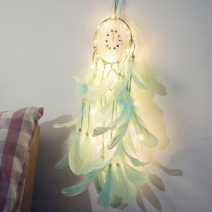Fairy Lights Battery Operated Indian Dream Catcher Net Bedroom Wall Decor Copper String Light Christmas Gifts For Children Women