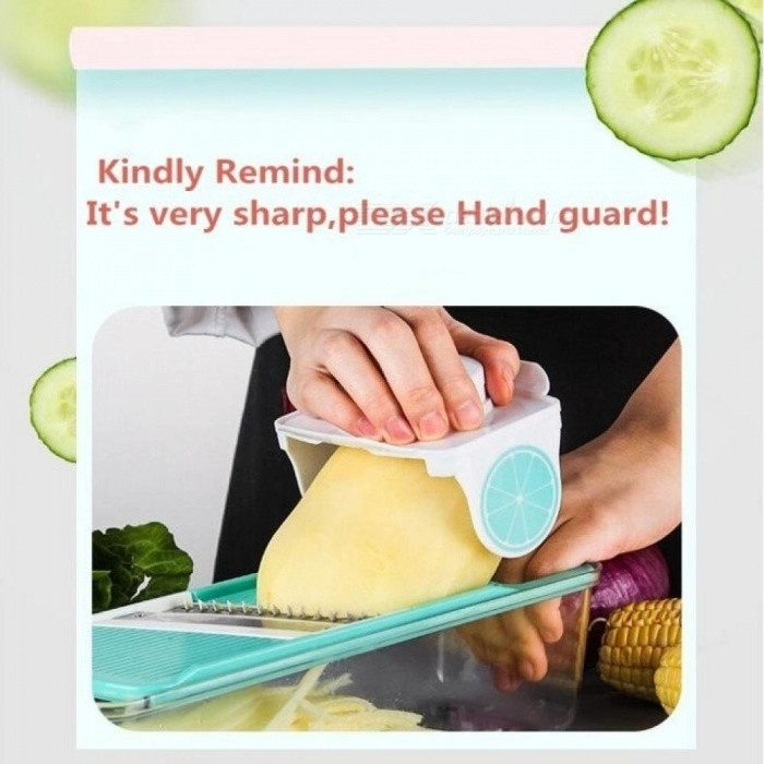 Vegetable Slicer Fruit  Grater  and Cheese Dicer ABS Food Shredder Multifunctional Vegetable Cutter Set with Container