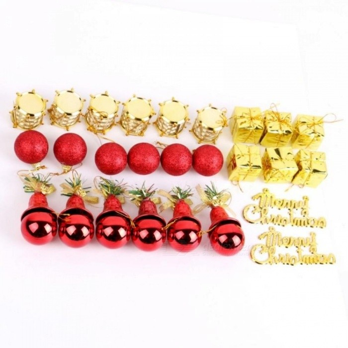 36 Pcs/Lot Christmas Tree Ball Bauble Hanging Xmas Party Ornament Cute Wedding Home Decor Christmas Decoration