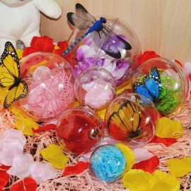 5 Pcs 4-8cm Transparent Hanging Ball New for Xmas Tree Bauble Clear Plastic Home Party Christmas Decorations Gift Craft 4cm