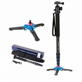 Professional Aluminium Camera Tripod 65 Inch 5 Sections Manbily Video Monopod For Canon Nikon DSLR Gopro 6 Action Camera Tripod