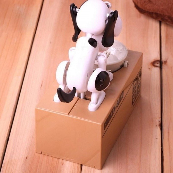 Exotic Products Children Eat Money Dog Puppy Cat Stealing Piggy Bank Electronic Toys Lovely Money Boxes