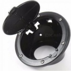 Newest Fuel Tank Cover Gas Lid Filler Cap Metal ABS For Jeep Wrangler Jk For Jeep Wrangler JK 2007 UP Gray
