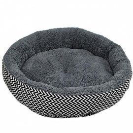 Cushion Warm Couch Bed For Pet Puppy Dog Cat In Winter Canvas + PP Cotton Material Gray White Color Optional S/white