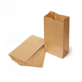 Kraft Paper Bag Brown Party Wedding Favors Handmade Bread Cookies Gift Bags Biscuits Packaging Wrapping Supplies 10PCS 9x5x17cm