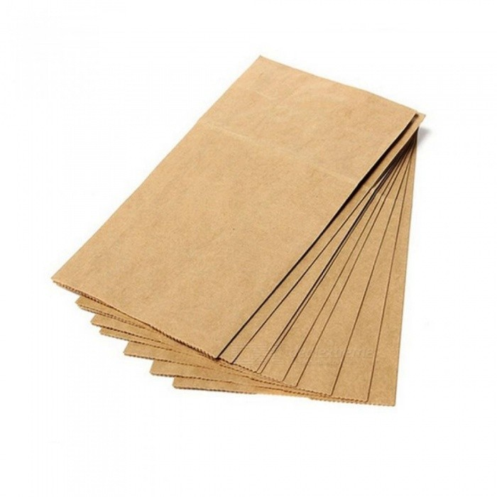 Kraft Paper Bag Brown Party Wedding Favors Handmade Bread Cookies Gift Bags Biscuits Packaging Wrapping Supplies 10PCS