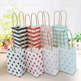 Small Gift Bag With Handles Wedding Decoration Paper Gift Bag For Jewelry Birthday Decoration Event Party Supplies 20PCS 5x8x12cm/red