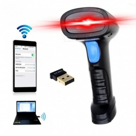 Wireless Bluetooth Handheld Barcode Scanner EAN UPC USB Laser Reader Code Scanner For Android IOS Black Black