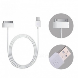 Baseus Original 30Pin USB Cable For iPhone Apple Charger Cord Data Cable For iPhone 4 4s 3GS 3G iPad 1 2 3 iPod Charging Cable 120cm/White
