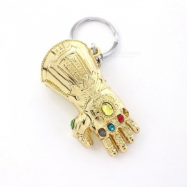 Marvel Avengers 3 Thanos Infinity Glove Gauntlet Keychain Anime Keyring For Gift Chaveiro Keychain Jewelry Porte Clef Gold