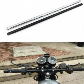 "Motorcycle Handlebar 7/8"" 22mm Black Drag Straight Bar For Honda Kawasaki Yamaha Suzuki Harley Chopper Bobber Silver"