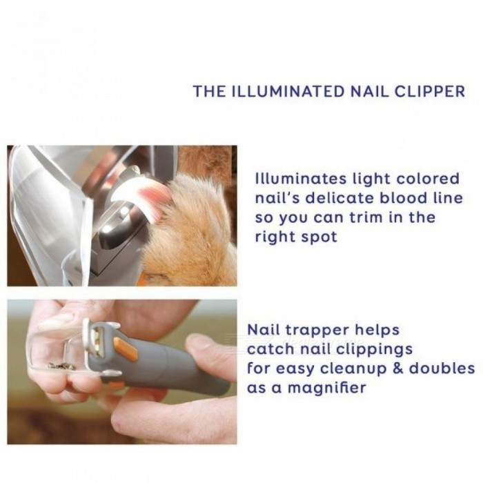 Pet Nail Trimmer Petcare Dog Nail Clippers Grinders For Cat Dog PetiCare Stainless Steel Material Gray