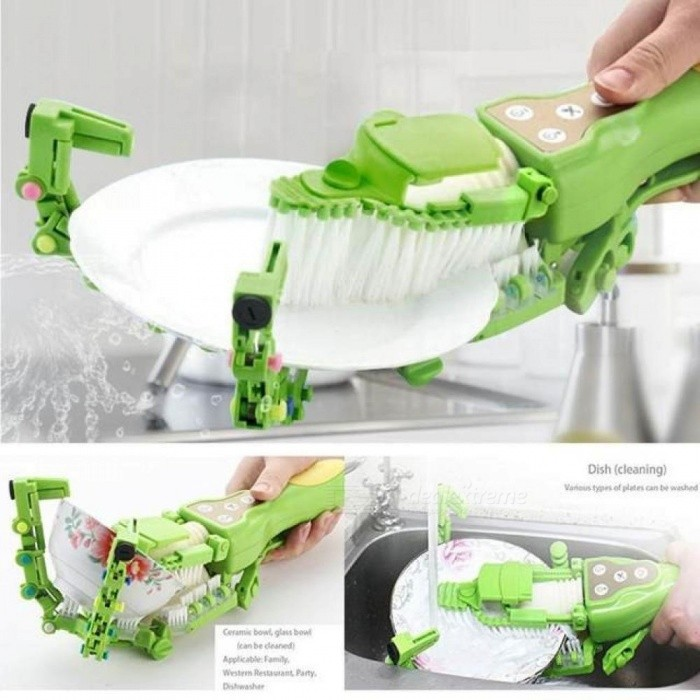 Hand-held Automatic Dishwashing Brush Cleaning Cloth Household Washing Machine Electric Antibacterial Kitchen
