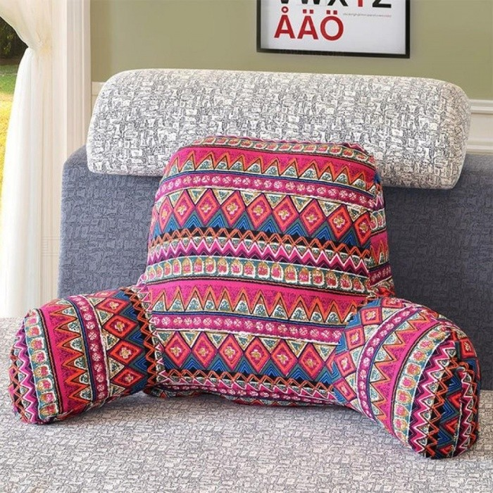1-Piece-Cotton-Linen-Backrest-Cushion-For-Sofa-Cushion-For-Bed-Back-Support-Include-Pillow-Core-Washable-S-52x38x20cmRed